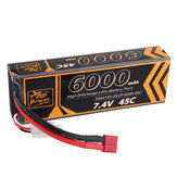 ZOP Power 7.4V 6000mAh 45C 2S Lipo Batterie T Plug für HPI 1/8 RC Car