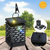 12 LED Solar Light Flickering Flame Lamp Waterproof Outdoor Garden Hanging Lantern