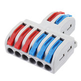 5pcs SPL-62 Two Groups of Parallel One-in and Three-out Splitter Terminal Wire Connector