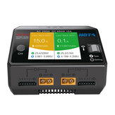 HOTA D6 Pro AC 200W DC 650W 15A*2 Dual Channel Lipo Charger With Wireless Charging for NiZn/Nicd/NiMH Battery