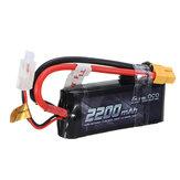 GENSACE ACE 2200mAh 50C 7.4V 2S1P Lipo Batterie XT60 / T Plug Für alle Trx4 1/16 VXL Fahrzeugmodelle 19 * 34 * 86mm
