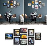 9 piezas DIY Multi Photo Frame Set Hanging Picture Modern Pantalla Wall Art Decoraciones para el hogar