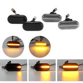 Dynamic Flowing LED Luces indicadoras laterales Bombillas repetidoras Par amarillo para Nissan Opel Renault Smart