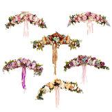 Fleurs artificielles Guirlande Européenne Linteau Mur Fleur Porte Guirlande pour la Maison De Mariage Décor De Noël Fournitures