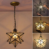 Moravian Star Glass Pendant Light Chandelier Light Modern Ceiling Lamp Fixture Decor