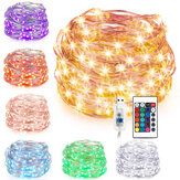 7M 10M USB Silver Wire RGB DIY LED String Fairy Light Christmas Decor With 24 Keys Remote Control Christmas Decorations Clearance Christmas Lights