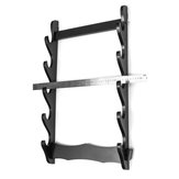 1/2/3/4/5/6 Tier Holder Wall Mount Samurai Stand Display Katana Hanger Rack Support