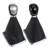 5 Speed MT Gear Stick Shift Knob with Dust Boot Cover For Ford Focus