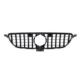 Silver GT Style Front Grille Grill For Mercedes Benz GLE Coupe W292 C292 GLE350 2016-2018