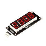 Robotdyn® 4 Digit LED Display Tube 7 Segments TM1637 50x19mm Red Clock Display Colon