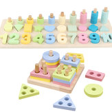 Preschool Learning for Montessori Math Toys Counting Board Digital Shape Pairing