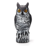 40cm Electric Induction Sound Illuminate Hunting Owl Decoy Garden Decoration
