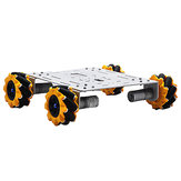 D-36 DIY 4WD Smart Metal RC Robot Car Chassis Base With Omni Wheels 1:46 Motor