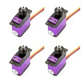 4 PCS MG91 13g 2.6 KG Torsi Metal Gear Digital Servo untuk RC model Pesawat Robot