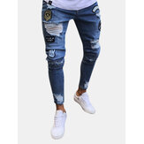 Stylische Hip Hop Ripped Skinny Jeans