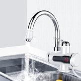 3000W 220V LED Pantalla Grifo de calentamiento eléctrico instantáneo Grifo de agua caliente Calentador Calentamiento de agua