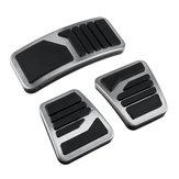 3ピースマニュアルMTクラッチブレーキペダルステンレス鋼金属アクセラレーターユニバーサル三菱