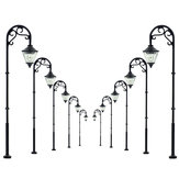 5 szt. Skala 1:87 Model kolejowy Lamppost Lamppost LED Garden Garden Train Light
