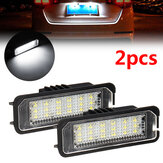 2PCS 18 LED License Number Plate Car Lights For VW Golf MK4 MK5 MK6  Passat Lupo Polo 9N
