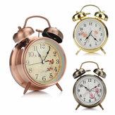 4 cale Podwójny dzwonek z budzikiem Seria Retro Metalowy podwójny dzwonek do dekoracji sypialni