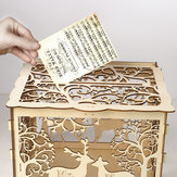 DIY Wooden Card Box Wedding Advice Wishing Box Lock Gift Wedding Party Decorations