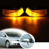 Højre bagspejle Sidevend Bilerlys Amber LED For Honda Civic 2006-2011
