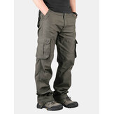 Pantalons de cargaison de loisirs extérieurs pour hommes Pantalons de jambe droits et poches extra larges