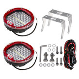 7 Inch DC12-36V Round Work Light LED Spot Flood For Offroad Headlight Marine Boat