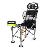 Outdoor Portable Folding Chair Stainless Steel Fishing Seat Stool Adjustable Liftable 22cm Camping BBQ
