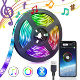 5V USB Power bluetooth Music Control remoto APP LED Tira de luz 5050 RGB TV Retroiluminación Decoración Decoraciones navideñas Liquidación Luces navideñas
