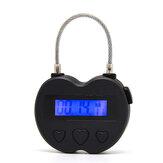 USB Rechargeable Time out Padlock Max Timing Lock Digital Timer Alarming Padlock w/ LCD Display Screen
