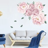Autoadhesivo Acuarela Peonía Tatuajes de pared Floral Papel de pared Decoración de pared