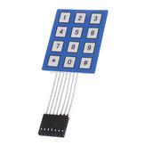 Матричная матрица 4 x 3 12 клавишная клавиатура Клавиатура Герметичная мембрана 4 * 3 кнопочная панель с переключателем стикеров