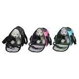 ペット犬猫ウサギポータブル旅行キャリアトートケージバッグメッシュ木枠犬小屋ペットマット
