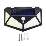 2/4Pcs 100 LED Solar Power Waterproof PIR Motion Sensor Solar Light Outdoor Garden Lamp