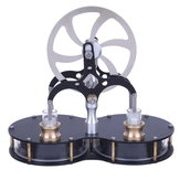 Peanut Shaped Stirling Double Cylinder Low Temperature Difference Engine Model Educational Toy