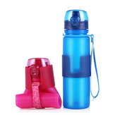 650ml Silicone Collapsible Sports Water Bottle Folding Drink Water Fitness Riding Running Kettle