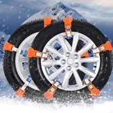 2pcs Universal Car Snow Chain Vehicle Anti Skid Tire Emergência Areia Cinta à terra