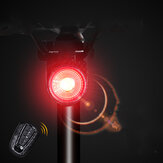 ANTUSI A8 108dB Burglar Alarm Tail Light 40LM Smart Light Sensor Brake Sensor Anti-thief Bike Taillight IP65 Waterproof USB Rechargeable MTB Road Bicycle Electric Scooter E-bike Rear Light