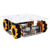D-30 DIY Smart 4WD RC Robot Base de châssis de voiture avec roues Omni DC 12V 1:46 Motor