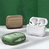 USAMS US-BH570 1,2 mm ultradunne doorschijnende schokbestendige TPU-oortelefoon-opbergtas met sleutelhanger voor Apple Airpods 3 Airpods Pro