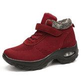 Women Mesh Warm Lining Hook Loop Cushion Sneakers