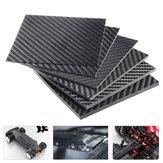 100x100x (0,5-5) mm Czarna płyta z włókna węglowego Płyta panelowa Matowy splot skośny