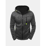 Sports Loisirs Jacquard Cardigan en molleton Zipp Up Thick Hooded