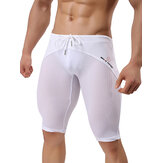 BRAVE PERSON Mesh Breathable Quick Drying Surf Zwembroekjes Mannen Gym Fitness Strak Sportbroek