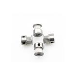 Anet® Alumínio 16 Dentes Sincronização Cinto Polia 5mm Furo 6mm Largura Flange Roda Síncrona para Peças CNC de Impressora 3D