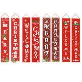 Счастливого Рождества Крыльцо Баннер Рождество На открытом воздухе Украшения для Дома Висит Кулон Орнамент
