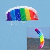 Coloful Power Dual Lines Stunt Kite Parafoil Paracaídas al aire libre Diversión depotiva (poliéster duradero) (1.2m / 1.4m / 2m / 2.7m)