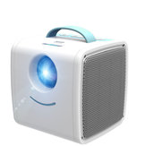 VEIDADZ Q2 Mini Portable LCD Projector 30 Lumens 1080P Childrens Education Projector LED Home Cinema Beamer Mini Theater