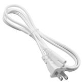1.5 m AC C8 US Fiş Güç Kaynağı Adaptörü Kablosu Kablosu PVC Beyaz Güç Adaptörü Konektör Hattı için Monitör